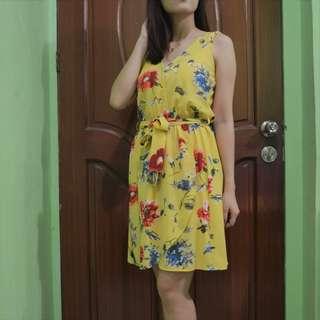 Yellow floral Sun dress