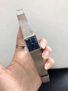 鷗米茄18k金機械女表表盤25/27鑽石邊鑲嵌 9成新