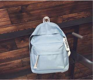 Hello Superhero Simple Colored Canvas Backpack