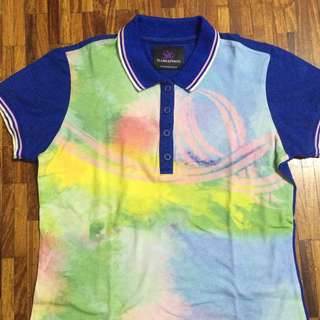 plains and prints colorful blue sportswear