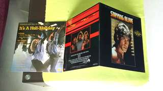 BEE GEES . staying alive ● IT'S A HOLI - HOLIDAY . soundtrack music from the film. ( buy 1 get 1 free )  vinyl record