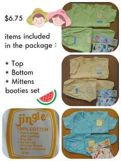 Cheapest! Newborn baby clothes set mittens