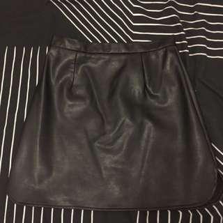leather look skirt women's 8