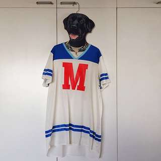 """H&M """"M"""" Netted Long Jersey"""