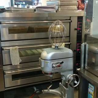 USED Commercial 3 Deck Electric Oven and 40L Mixer (Like BRAND NEW!)