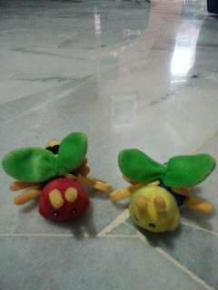 Kids soft toy clip on @ 2 pieces