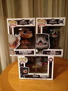 Funko Pop Jurassic World Dino Set