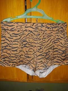 Tiger print short m-xL