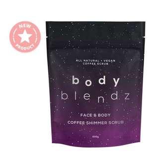 $20.90 BODYBLENDZ Coffee Shimmer Scrub - Face & Body