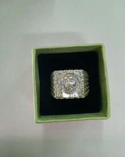 Genuine 925 Italy silver ring for men