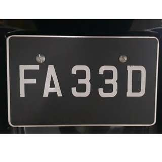 NUMBER PLATE FOR SALES