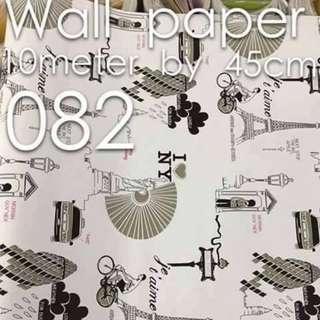 Paris New York World Wallpaper Self Adhesive C082