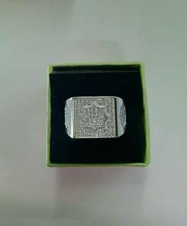 Genuine 925 Italy silver mens ring
