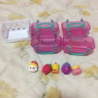 Shopkins (5 characters and 5 baskets)