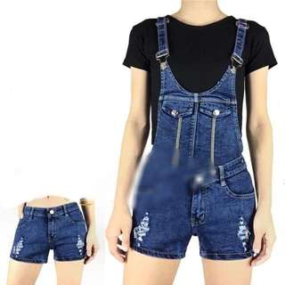 KOREAN 2 WAY DENIM JUMPER&SHORT 24-30 (EO)