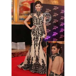 Kim Chu inspired long gown for rent