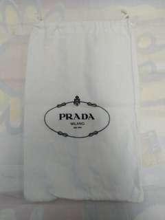 二手意大利製造 PRADA 白色中防塵袋 1 件