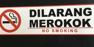Sticker dilarang merokok