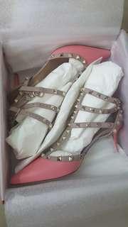 全新 valentino rockstud heels高跟鞋