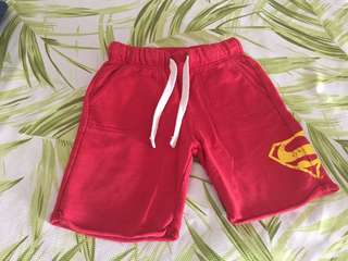 Authentic Superman shorts red