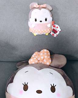 Disney Minnie Mouse Ufufy Collection: Soft Cushion & Soft Pouch set
