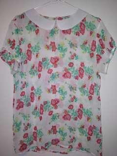 Colorbox floral blouse