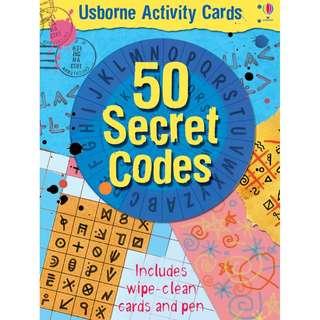 Usborne: Activity cards and tins - 50 secret codes