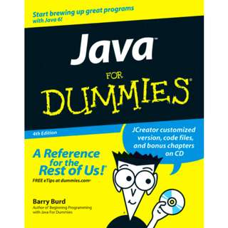 Java For Dummies (380 Page Mega eBook)
