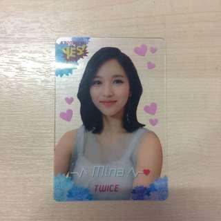 Twice - Mina Transparent Photocard