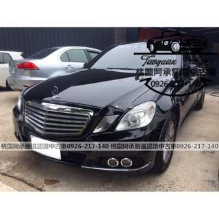 【FB搜尋桃園阿承】賓士 超人氣E250 2009年 1.8 黑色 二手車 中古車
