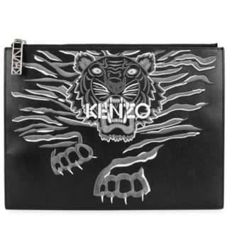 KENZO leather pouch 袋bag