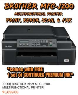 (COD) BROTHER J-200 MULTIFUNCTIONAL PRINTER SALE!