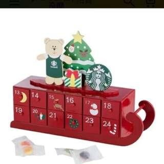 🚚 2017starbucks 星巴克 聖誕雪橇 日曆軟糖