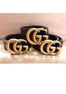 Authentic GUCCI Double G Logo Belt, Restock!!