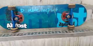 Almost double impact skateboard.