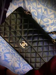 💖分享💖Vintage chanel classic flap黑色羊皮chain bag 25cm
