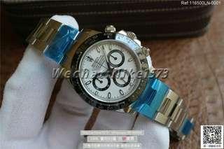 勞力士 Noob廠 Rolex 迪通拿 白色黑盤機械腕錶 904L精鋼 116500LN