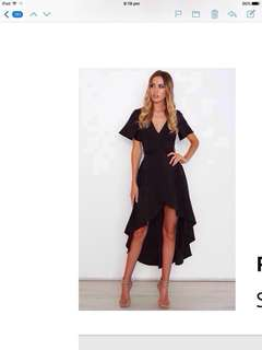 Poppie Dress Black-White Fox Boutique Size 6