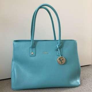 Furla Blue Linda Tote Bag