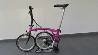 Brompton S6R Berry Crush Black