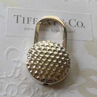 Excellent Rare Tiffany & Co. Golf Ball Silver Key Chain Key Ring