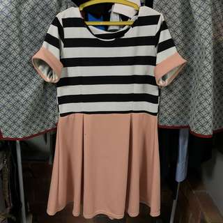 Stripes and pastel dress