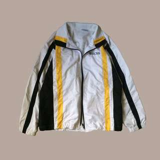 White with Black and Yellow Stripes Vintage Jacket