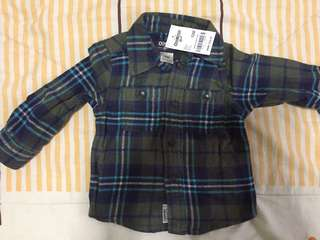 New with tag Osh kosh flannel polo