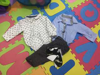 Polo Onesies & Pants with free Bib with Teether