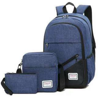 3in1 Bagpack for boys and girls