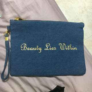 Beauty Lies Within Make Up Pouch
