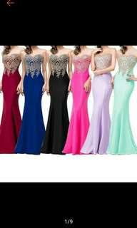 Women Lace Formal Evening Ball Long Gown Party Maxi Dress (Ships in 5-7days)