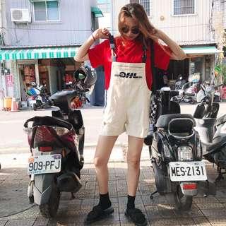 🚚 2009 外送員DHL 環扣刷破吊帶褲
