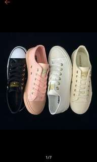 Converse Leather White Shoes for Women
